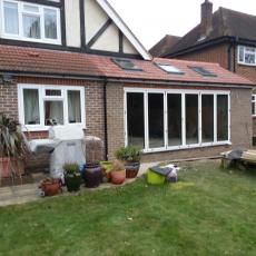 bifold doors on rear extension