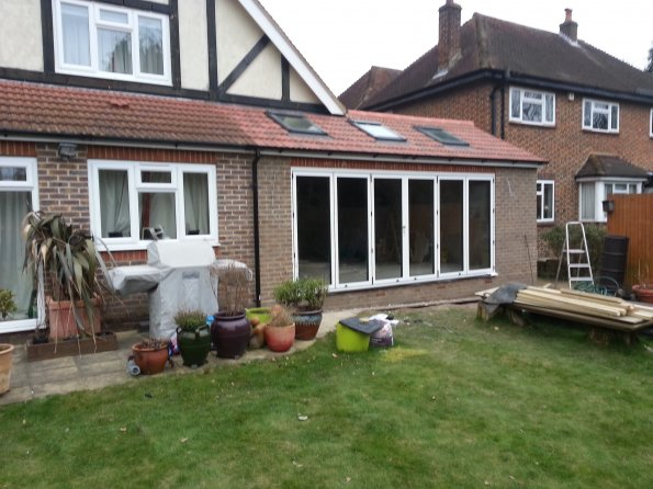 Gallery Extensions Bifold Doors On Rear Extension