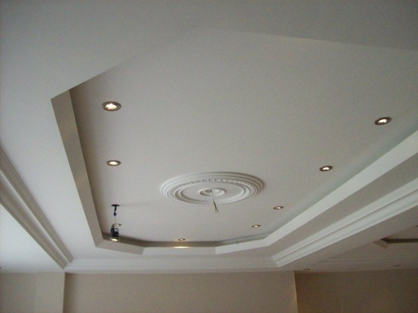 Gallery Interior Works Ceiling With Recessed Coffer Design