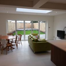 Extension with roof lantern/ bifold doors