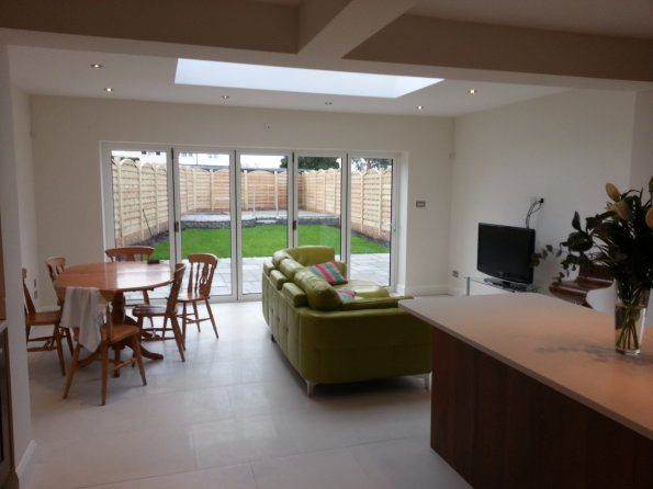 Gallery | Interior Works | Extension with roof lantern/ bifold doors