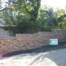 new drive and garden wall