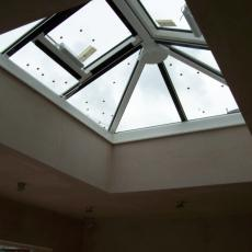 installation of roof lantern